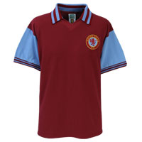 Click to zoom in on Aston Villa 80/81 Home League Champions Shirt - Claret/Sky