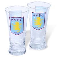 Click to zoom in on Aston Villa Pilsner Pack of 2 Glass Set