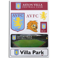 Click to zoom in on Aston Villa A5 Magnet Pack