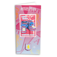 Click to zoom in on Aston Villa New Born Card