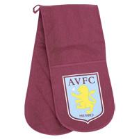 Aston Villa Oven Gloves - Claret/Blue