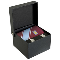 Click to zoom in on Aston Villa Tie and Cufflink Set