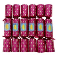 Click to zoom in on Aston Villa Christmas Crackers - 6 Pack