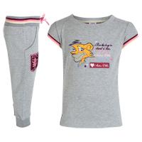 Aston Villa 2 Piece Set - Grey Marl - Infant Girls