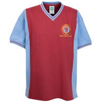 Click to zoom in on Aston Villa Super Cup Final Shirt - Claret/ Sky