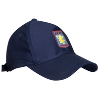Click to zoom in on Aston Villa Crest Cap - Navy - Boys