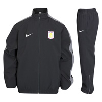 Click to zoom in on Aston Villa Woven Warm Up Cuffed Tracksuit - Kids