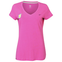 Click to zoom in on Aston Villa V-Neck Solid T-Shirt - Womens