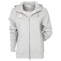 Aston Villa Fleece Full Zip Hoodie - Dark Grey Heather/Dark Obsidian - Womens