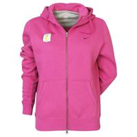 Aston Villa Fleece Full Zip Hoodie - Wineberry/Dark Grey Heather - Womens