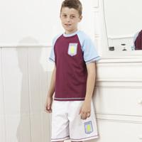 Click to zoom in on Aston Villa Kit PJ - Claret/White - Boys