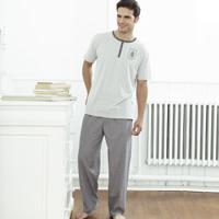 Click to zoom in on Aston Villa Woven Check Pyjamas - Charcoal/ Grey Marl