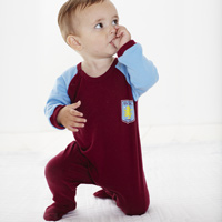 Click to zoom in on Aston Villa Kit Sleepsuit - Claret/ Sky - Baby