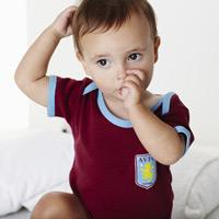 Aston Villa Kit Bodysuit - Claret/ Sky - Baby