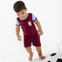 Click to zoom in on Aston Villa Kit Romper - Claret/ Sky - Baby