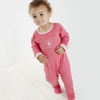Click to zoom in on Aston Villa Sleepsuit - Pink - Baby