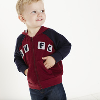 Click to zoom in on Aston Villa Hoodie - Claret/Navy - Infant Boys