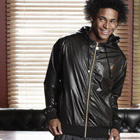 Click to zoom in on Aston Villa Fashion Wet Look Jacket - Black