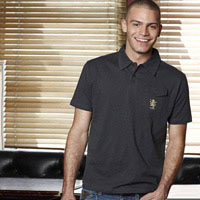Click to zoom in on Aston Villa Fashion Slim Fit Polo Shirt - Charcoal