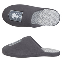 Click to zoom in on Aston Villa Mule Slipper - Charcoal - Older Boys