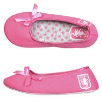 Click to zoom in on Aston Villa Ballerina Slipper - Pink - Older Girls