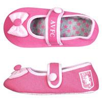Click to zoom in on Aston Villa Full Heel Ballerina Slipper - Pink - Infant Girls