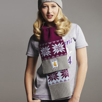 Click to zoom in on Aston Villa Frosty Knit Scarf - Claret