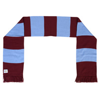 Click to zoom in on Aston Villa Home Bar Scarf - Claret/Sky