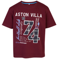Click to zoom in on Aston Villa T-Shirt - Washed Claret - Boys