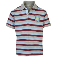 Click to zoom in on Aston Villa Stripe Polo Shirt - Multi - Boys