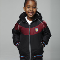Click to zoom in on Aston Villa Fleece Lined Jacket - Black/Claret - Boys