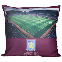 Click to zoom in on Aston Villa Crest Stadium Cushion - 20 x 20 Inch