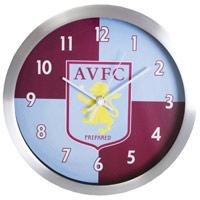 Click to zoom in on Aston Villa Aluminium Wall Clock
