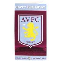 Aston Villa Crest Birthday Card