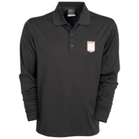 Aston Villa Nike Golf Dri-Fit Tech Solid Polo - Long Sleeved - Black