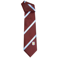 Click to zoom in on Aston Villa Official Crest Tie - Claret/Blue