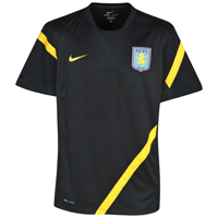 Click to zoom in on Aston Villa Training Top - Black/Varsity Maize