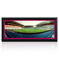 Click to zoom in on Aston Villa 2011 Empty Stadium Desk Top Panoramic Framed Photo - 30 x 12 Inch