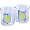 Aston Villa Pack of 2 Whisky Glasses