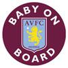 Aston Villa Baby On Board Sticker