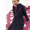 Aston Villa Hooded Robe - Navy/Claret - Boys