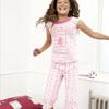 Aston Villa Top & Crop Pyjamas - Pink - Girls