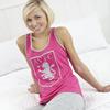 Aston Villa Vest and Crop Pyjamas - Pink - Womens
