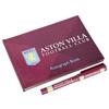Aston Villa Autograph Book And Pen