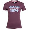 Aston Villa Distressed Print T-Shirt - Light Plum