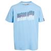 Aston Villa Text T-Shirt - Sky - Boys