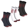 Aston Villa 3pk Sports Socks - Navy/Claret/White