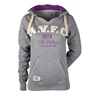 Aston Villa Graphic Hoodie - Grey Marl/Ecru/Purple - Womens