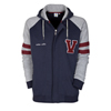 Aston Villa Collegiate Baseball Hoodie - Navy/Grey Marl/Claret/Optic White - Boys